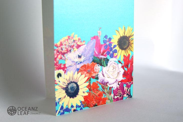結婚式招待状 リゾートペーパーアイテム【エブリン(ロング型)】Oceanz leafシリーズ画像3
