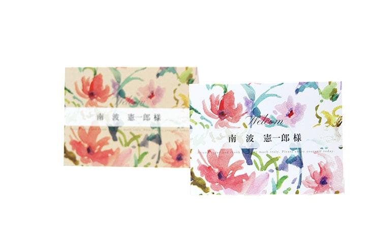 結婚式席札ペーパーアイテム【ファクシン】【フラワー】Oceanz leafシリーズ画像1