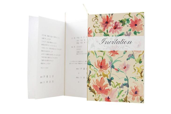 結婚式招待状 リゾートペーパーアイテム【ファクシン(ロング型)】フラワーシリーズ Oceanz leafシリーズ画像4