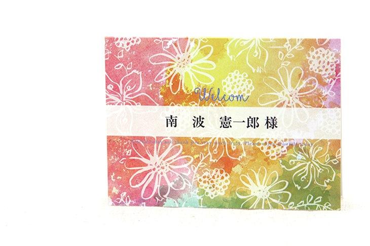 結婚式席札ペーパーアイテム【ガベラ】【フラワー】Oceanz leafシリーズ画像2