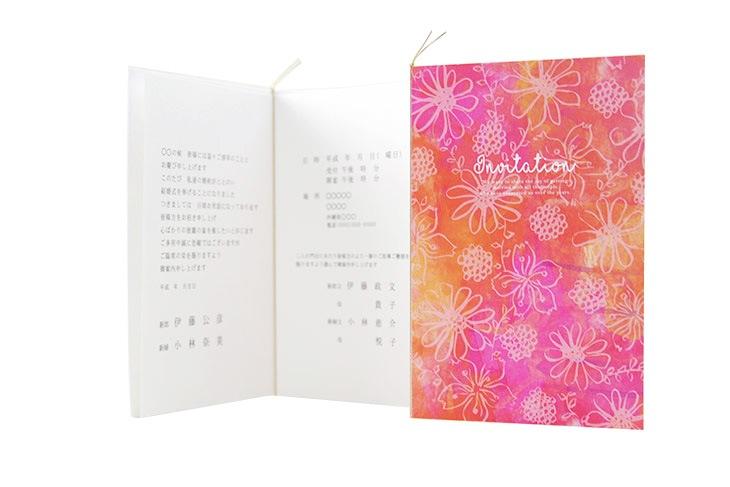 結婚式招待状 リゾートペーパーアイテム【ガベラ(ロング型)】フラワーシリーズ Oceanz leafシリーズ画像4