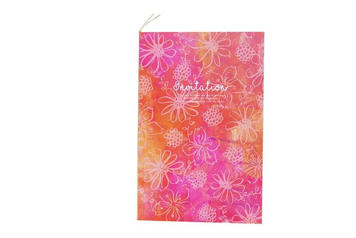ガベラ(ロング)【フラワー】結婚式招待状ペーパーアイテム リゾートウエディングにぴったり!画像3
