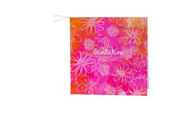 ガベラ(スクエア)【フラワー】結婚式招待状ペーパーアイテム リゾートウエディングにぴったり!画像3