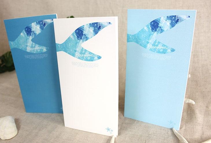 結婚式席次表 リゾートペーパーアイテム【グラッシー】Oceanz leafシリーズ画像1