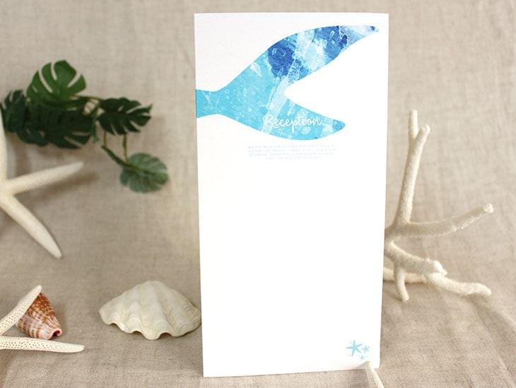 結婚式席次表 リゾートペーパーアイテム【グラッシー】Oceanz leafシリーズ画像2