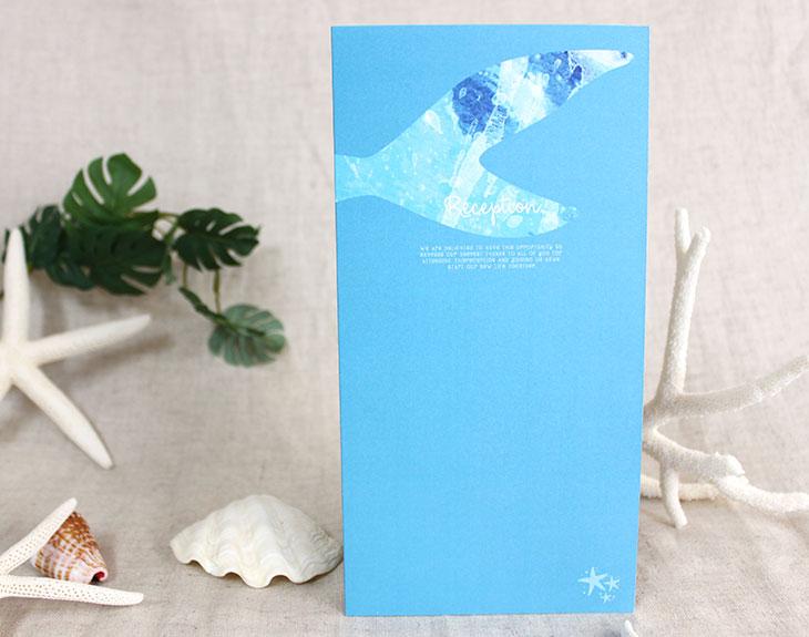 結婚式席次表リゾートペーパーアイテム【グラッシー】Oceanz leafシリーズ画像3