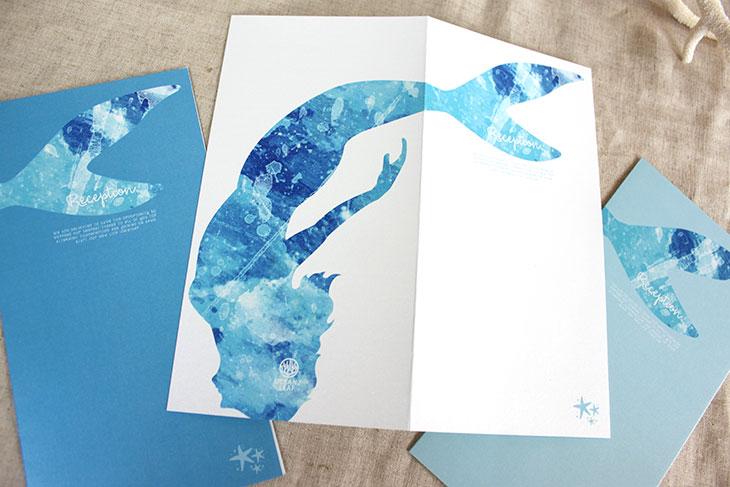 結婚式席次表リゾートペーパーアイテム【グラッシー】Oceanz leafシリーズ画像5