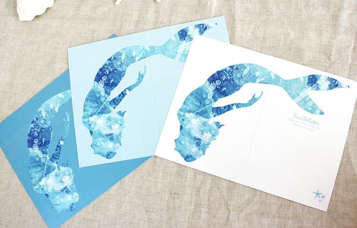 結婚式招待状 リゾートペーパーアイテム【グラッシー(スクエア型)】Oceanz leafシリーズ画像5