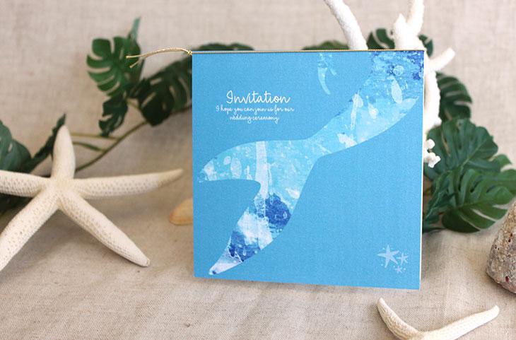 グラッシー(スクエア) 結婚式招待状 沖縄南国ペーパーアイテム リゾートウエディングにぴったり!画像3