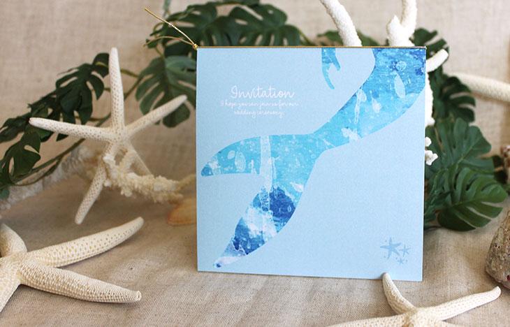 グラッシー(スクエア) 結婚式招待状 沖縄南国ペーパーアイテム リゾートウエディングにぴったり!画像4