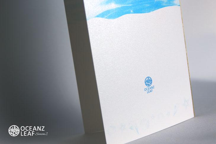 結婚式席次表リゾートペーパーアイテム【ニーナ】ブルー Oceanz leafシリーズ画像3