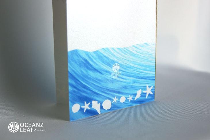 結婚式招待状 リゾートペーパーアイテム【ニーナ(ロング型)ホワイト】Oceanz leafシリーズ画像3