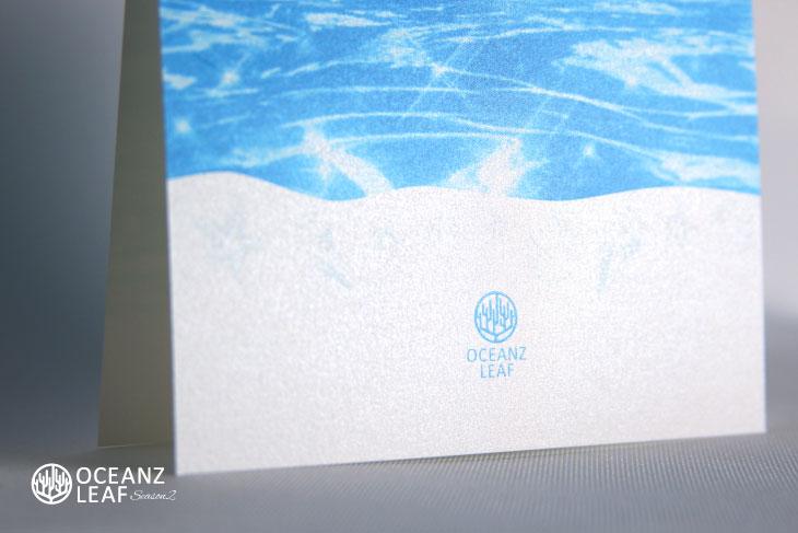 ニーナ(スクエア型)ブルー 結婚式招待状 沖縄南国ペーパーアイテム リゾートウエディングにぴったり!画像3