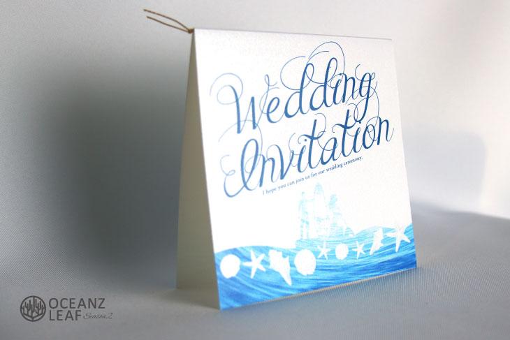ニーナ(スクエア)ホワイト 結婚式招待状 沖縄南国ペーパーアイテム リゾートウエディングにぴったり!画像2