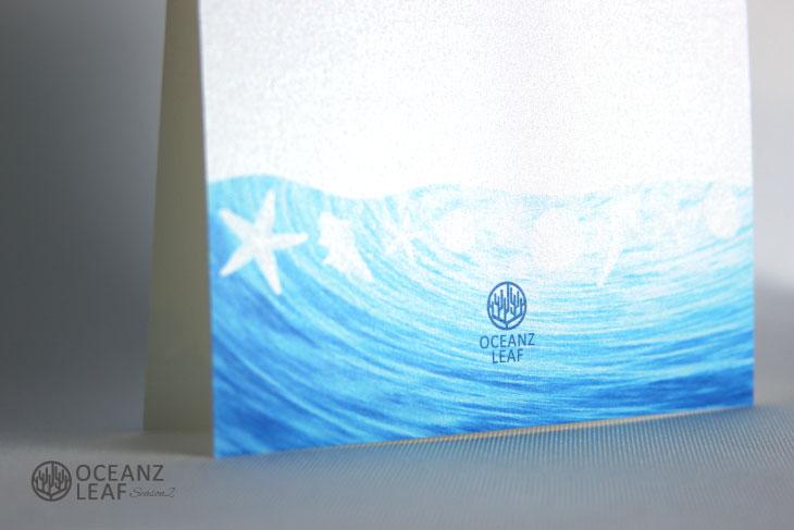 ニーナ(スクエア型)ホワイト 結婚式招待状 沖縄南国ペーパーアイテム リゾートウエディングにぴったり!画像3