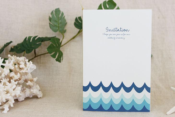 結婚式招待状 リゾートペーパーアイテム【オフショア(ロング型)】Oceanz leafシリーズ画像2