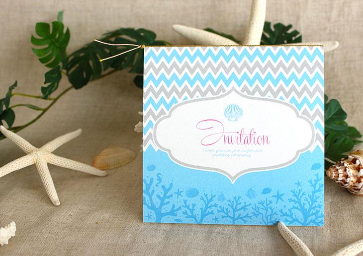 アウターリーフ(スクエア) 結婚式招待状 沖縄南国ペーパーアイテム リゾートウエディングにぴったり!画像3