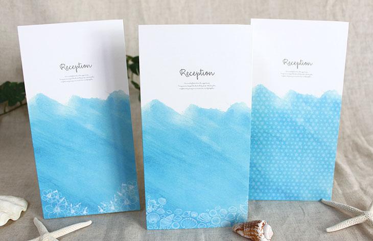 結婚式席次表 リゾートペーパーアイテム【シーブリーズ】Oceanz leafシリーズ画像1