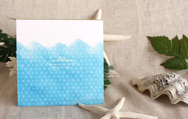 シーブリーズ(スクエア) 結婚式招待状 沖縄南国ペーパーアイテム リゾートウエディングにぴったり!画像2