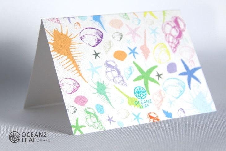 結婚式席次表リゾートペーパーアイテム【シェルフェイド2】ホワイト Oceanz leafシリーズ画像4