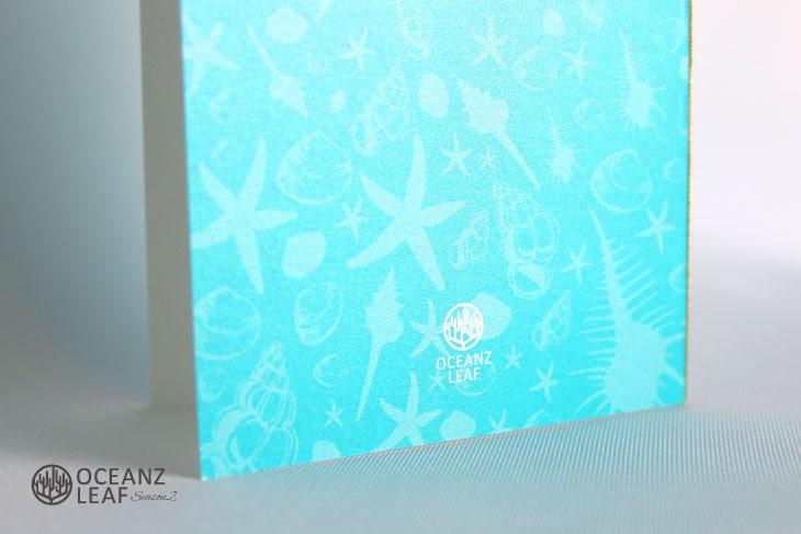 結婚式招待状 リゾートペーパーアイテム【シェルフェイド2(ロング型)エメラルドグリーン】Oceanz leafシリーズ画像3