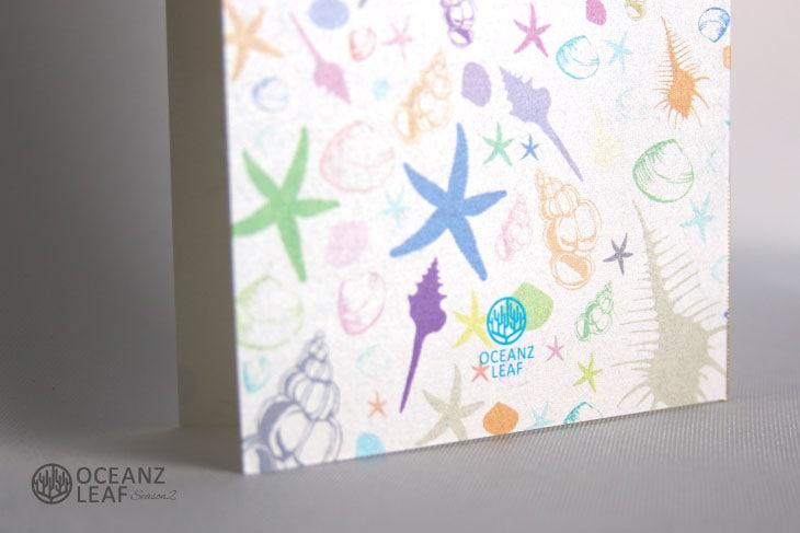 結婚式招待状 リゾートペーパーアイテム【シェルフェイド2(ロング型)ホワイト】Oceanz leafシリーズ画像3