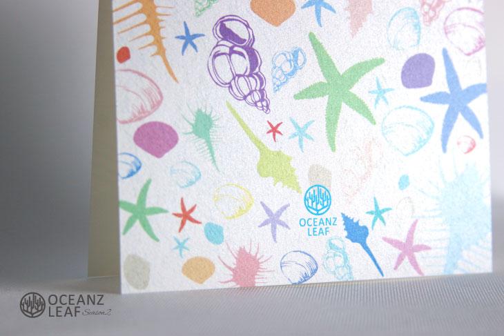 シェルフェイド2(スクエア) 結婚式招待状 沖縄南国ペーパーアイテム リゾートウエディングにぴったり!画像3