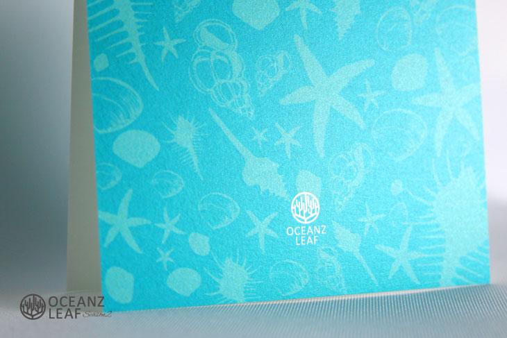 シェルフェイド2(スクエア)エメラルドグリーン 結婚式招待状 沖縄南国ペーパーアイテム リゾートウエディングにぴったり!画像3