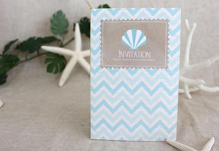 結婚式招待状 リゾートペーパーアイテム【シェルウェーヴ(ロング型)】Oceanz leafシリーズ画像4