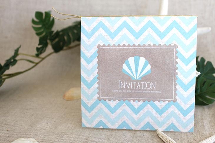 シェルウェーヴ(スクエア) 結婚式招待状 沖縄南国ペーパーアイテム リゾートウエディングにぴったり!画像2