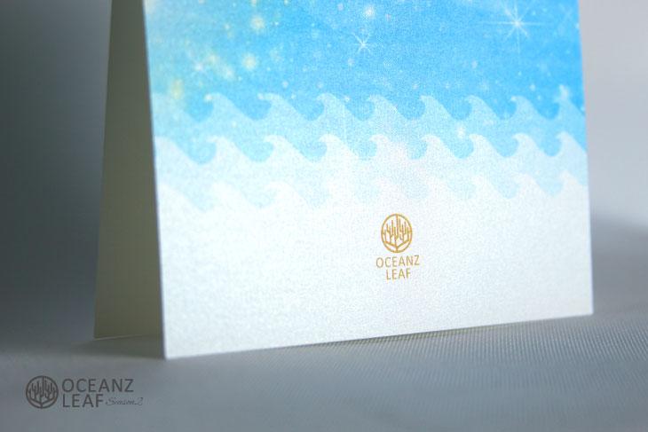 タッデオ(スクエア)ブルー 結婚式招待状 沖縄南国ペーパーアイテム リゾートウエディングにぴったり!画像3