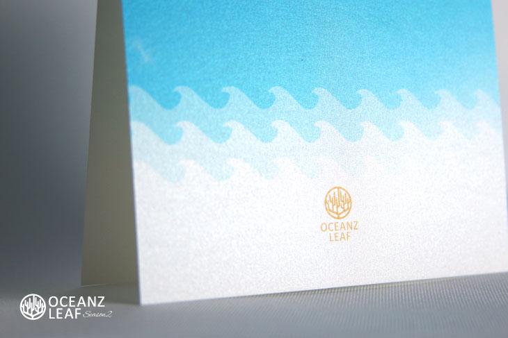タッデオ(スクエア)ライトブルー 結婚式招待状 沖縄南国ペーパーアイテム リゾートウエディングにぴったり!画像3