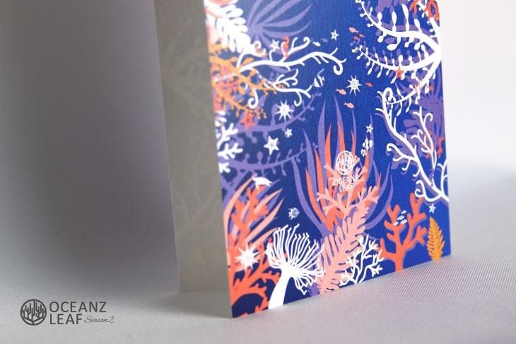 結婚式席次表リゾートペーパーアイテム【タイド2】パープル Oceanz leafシリーズ画像3