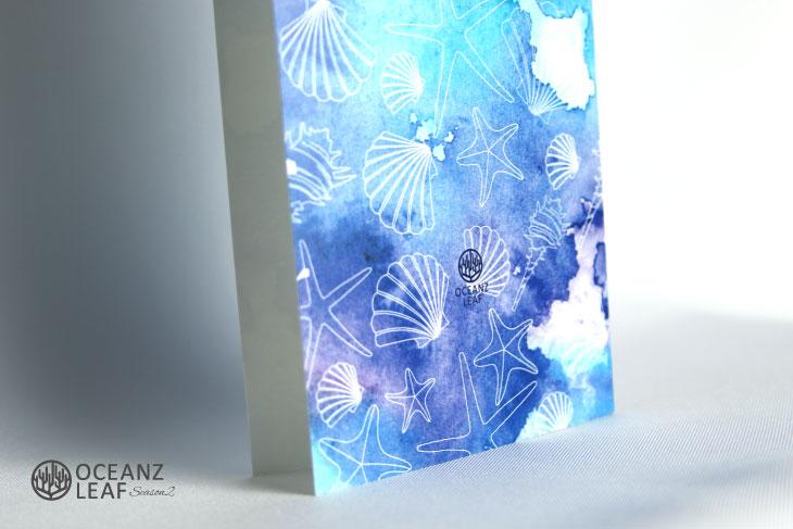 結婚式席次表リゾートペーパーアイテム【ヴィルジニア】ブルー Oceanz leafシリーズ画像3