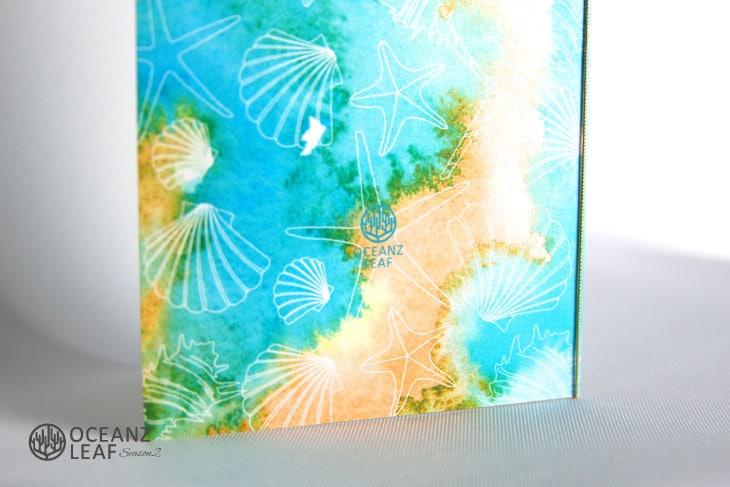 結婚式招待状 リゾートペーパーアイテム【ヴィルジニア(ロング型)グリーン】Oceanz leafシリーズ画像3