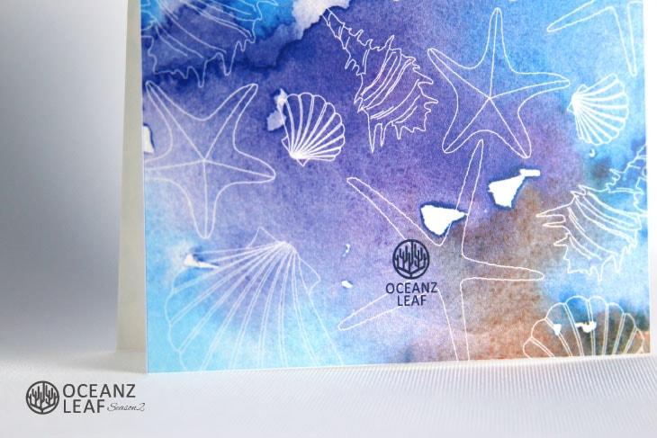 ヴィルジニア(スクエア型)ブルー 結婚式招待状 沖縄南国ペーパーアイテム リゾートウエディングにぴったり!画像3