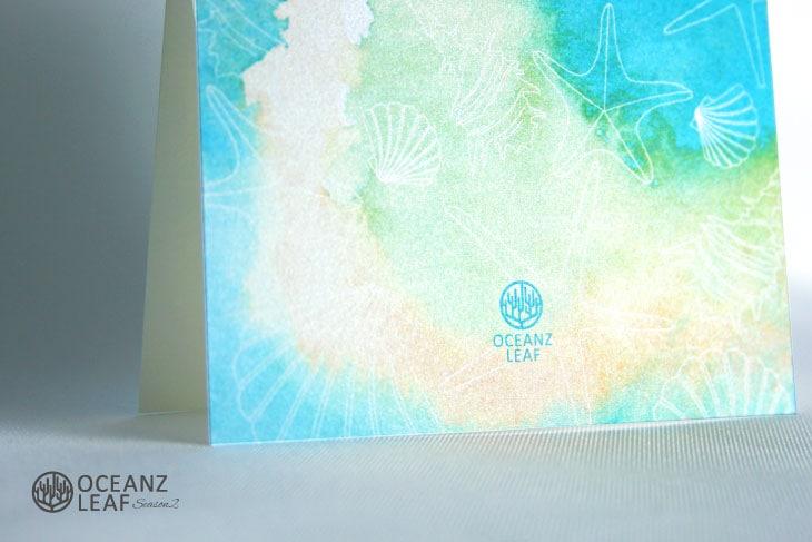 ヴィルジニア(スクエア型)グリーン 結婚式招待状 沖縄南国ペーパーアイテム リゾートウエディングにぴったり!画像3