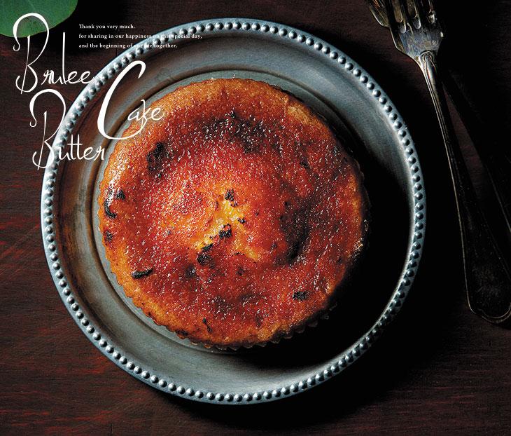 結婚式引出物 Luxury deco プリュレ仕立てのバターケーキ&紅茶12A