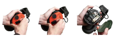 スポーツタックイヤーマフ用 交換用カバー(1組) レッド/ブラック/グリーン/オレンジ (PELTOR) 【防音・騒音対策】