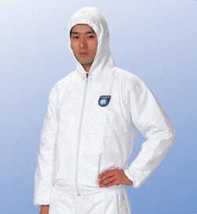 【防護服/保護服/作業服】 タイベックジャンパー フード付 2010B