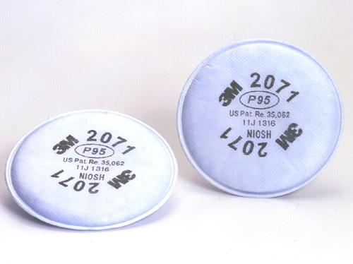 【3M/スリーエム】 防塵マスク用交換用フィルター 2071 (6000用) (2枚/1組) 【粉塵・作業用・医療用】