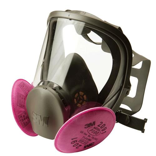 【3M/スリーエム】 取替え式防塵マスク 6000F/2091-RL3 【粉塵・作業用・医療用】