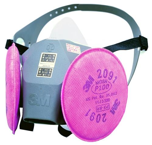 【3M/スリーエム】 取替え式防塵マスク 6000DDSR/2091-RL3 【粉塵・作業用・医療用】