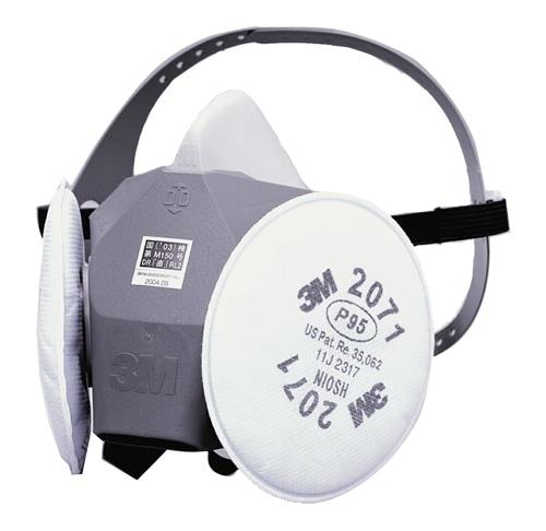 【3M/スリーエム】 取替え式防塵マスク 6000DDSR/2071-RL2 【粉塵・作業用・医療用】