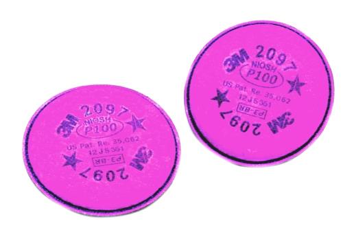【3M/スリーエム】 防塵マスク用交換用フィルター2097 (6000/2097-RL3用) (2枚/1組) 【粉塵・作業用・医療用】