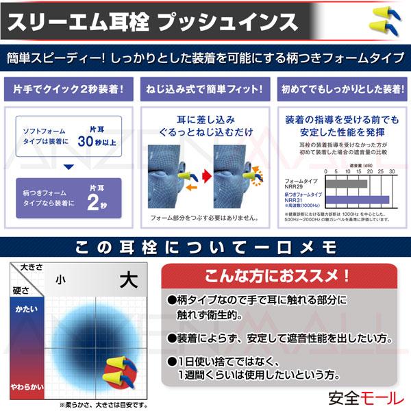 1商品画像sスリーエム製耳栓、プッシュインスの特徴
