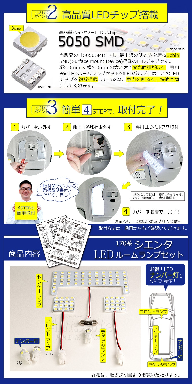 AutoSite_車種専用LEDルームランプセット