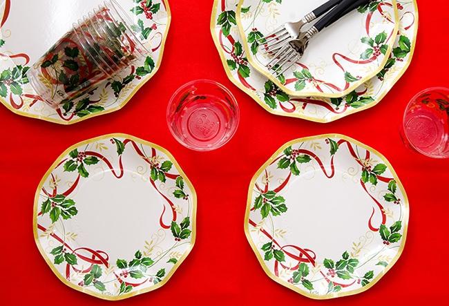 イタリア製クリスマス紙皿