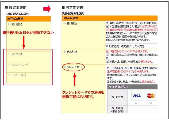 クレジットカード決済の変更手順