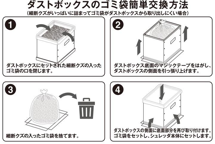 ダストボックスのゴミ袋簡単交換方法